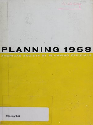 cover image of Planning 1958: Selected Papers from the National Planning Conference