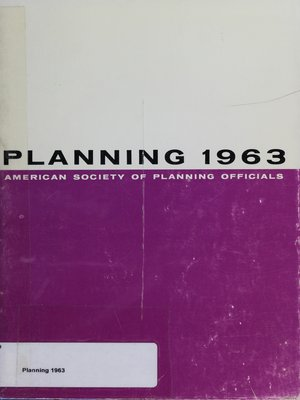 cover image of Planning 1963: Selected Papers from the ASPO National Planning Conference