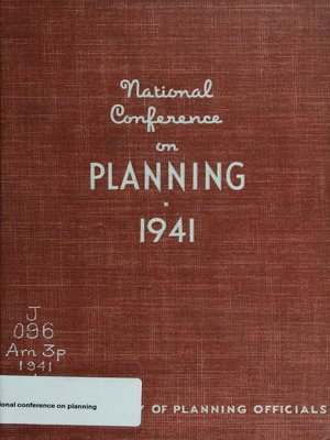 cover image of National Conference on Planning