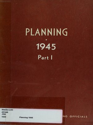 cover image of Planning 1945: Part I