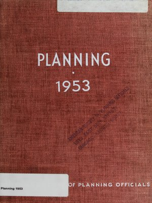 cover image of Planning 1953