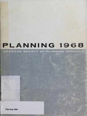 cover image of Planning 1968: Selected Papers from the ASPO Natioanl Planning Conference
