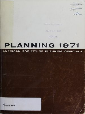 cover image of Planning 1971: Selected Papers from the ASPO National Planning Conference