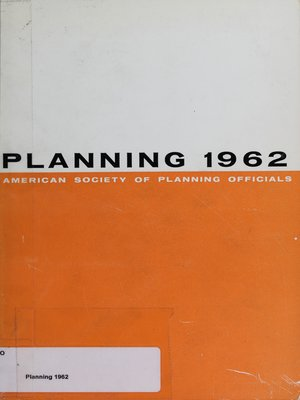 cover image of Planning 1962: Selected Papers from the ASPO National Planning Conference