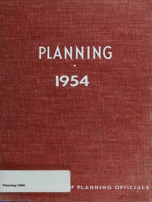 cover image of Planning 1954