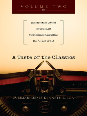 cover image of A Taste of the Classics, Volume 2