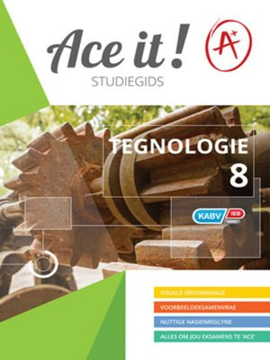 cover image of Ace It! Tegnologie Graad 8