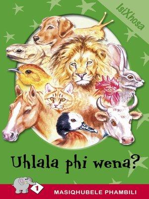 cover image of Masiqhubele Phambili Level 1 Book 2: Uhlala Phi Wena