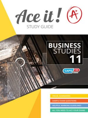 cover image of Ace It! Business Studies Grade 11