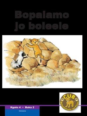 cover image of Cub Reading Scheme (Setswana) Level 4, Book 2: Bopalamo Jo