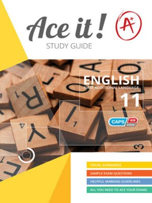 cover image of Ace It! English Fal Grade 11