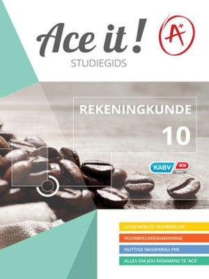 cover image of Ace It! Rekeningkunde Graad 10