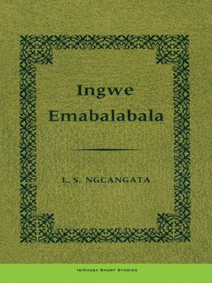 cover image of Ingwemabalabala