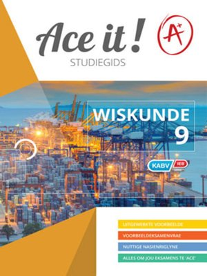 cover image of Ace It! Wiskunde Graad 9