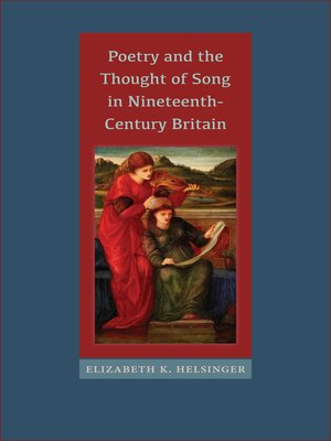 cover image of Poetry and the Thought of Song in Nineteenth-Century Britain