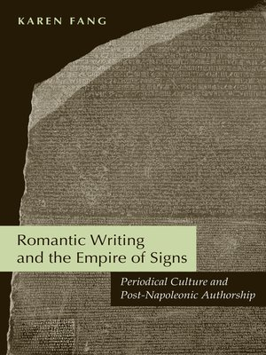 cover image of Romantic Writing and the Empire of Signs