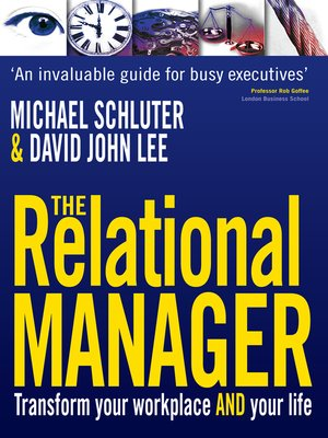 cover image of The Relational Manager