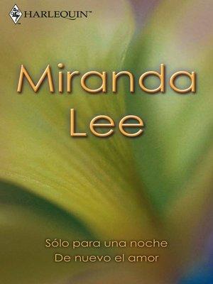 cover image of Sólo para una noche--De nuevo el amor