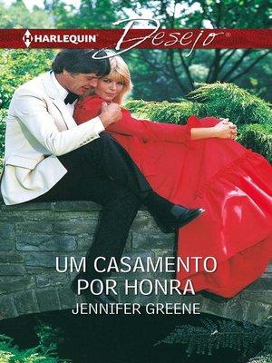 cover image of Um casamento por honra