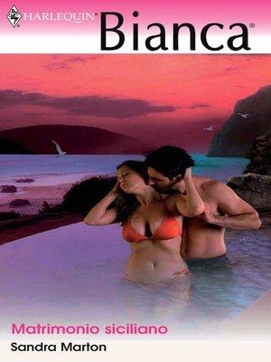 cover image of Matrimonio siciliano