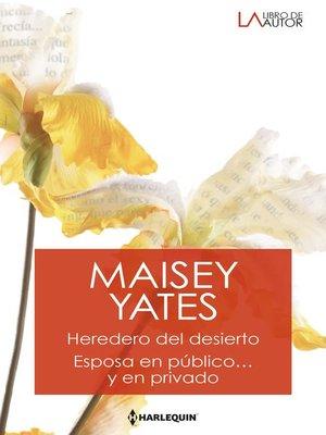cover image of Heredero del desierto--Esposa en público... y en privado