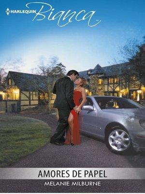 cover image of Amores de papel