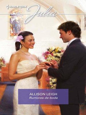 cover image of Rumores de boda