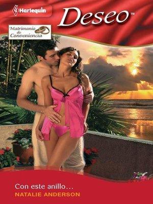 cover image of Con este anillo...