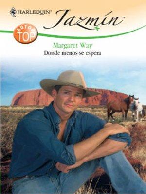 cover image of Donde menos se espera