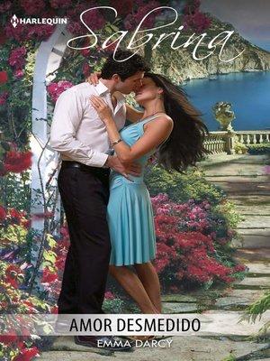 cover image of Amor desmedido