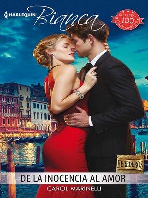 cover image of De la inocencia al amor