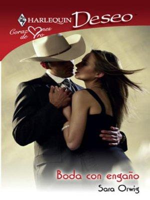 cover image of Boda con engaño