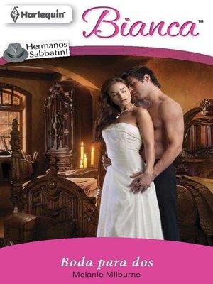cover image of Boda para dos