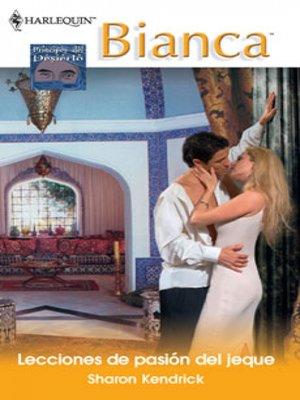 cover image of Lecciones de pasión del jeque