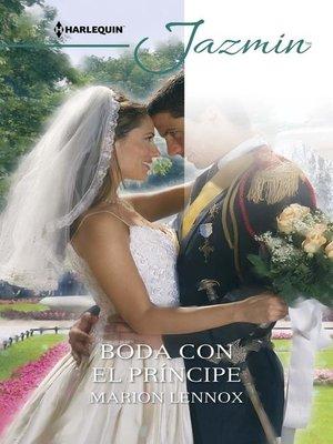 cover image of Boda con el príncipe