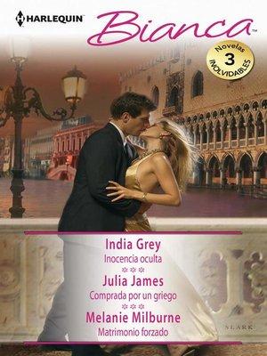 cover image of Inocencia oculta--Comprada por un griego--Matrimonio forzado