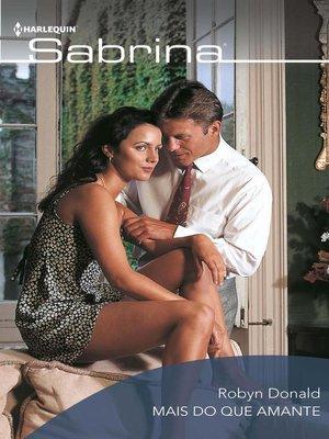 cover image of Mais do que amante
