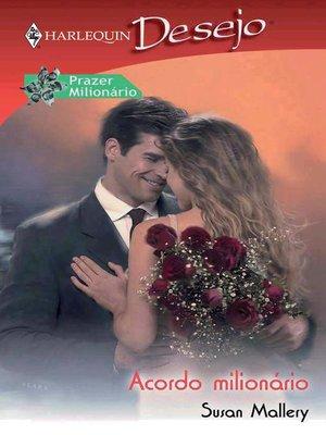 cover image of Acordo milionário