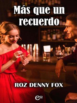 cover image of Más que un recuerdo
