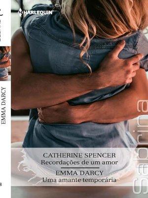 cover image of Recordações de um amor--Uma amante temporária
