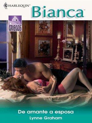 cover image of De amante a esposa