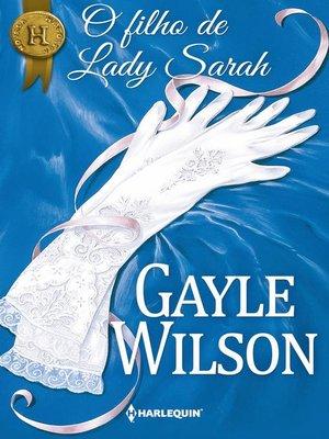 cover image of O filho de Lady Sarah