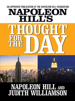 cover image of Napoleon Hill's Thought for the Day