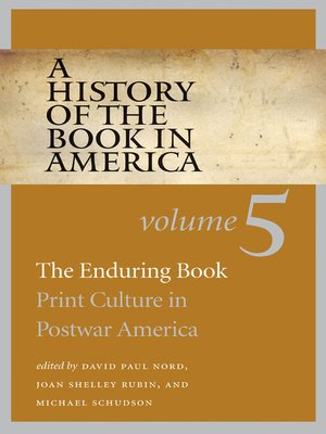 cover image of A History of the Book in America