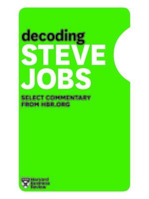 cover image of Decoding Steve Jobs
