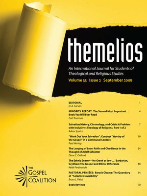 cover image of Themelios, Volume 33, Issue 2