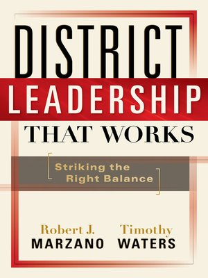 cover image of District Leadership That Works
