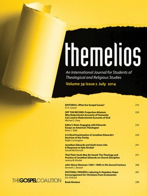 cover image of Themelios, Volume 39, Issue 2