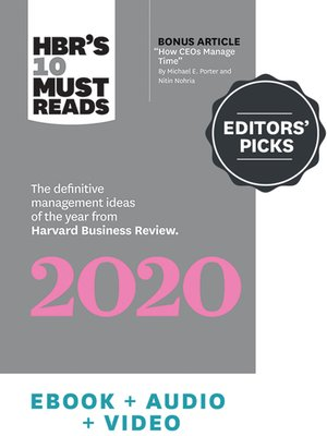 cover image of HBR's Editors' Picks 2020