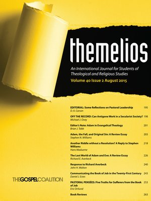 cover image of Themelios, Volume 40, Issue 2